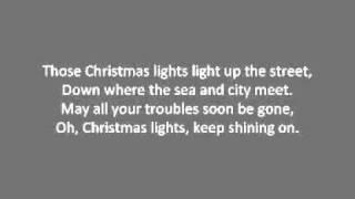 Coldplay - Christmas Lights Lyrics - YouTube