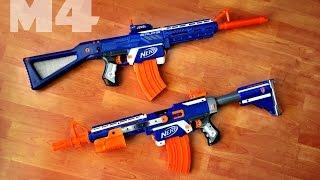 getlinkyoutube.com-[REPLICA] Nerf M4 / M16 Blaster | Retaliator Mod / 3D printed VS homemade attachments
