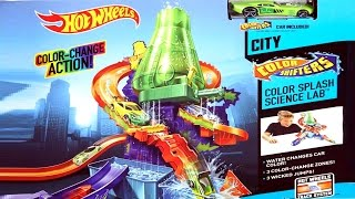 getlinkyoutube.com-Hot Wheels Color Splash Science Lab Color Shifters Collection by Superman Cars Toys Club for Kids