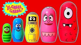 getlinkyoutube.com-Play Doh Yo Gabba Gabba Stacking Cups Surprise Eggs For Children Learn Colors Nesting Poupées Russes