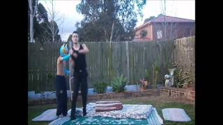 getlinkyoutube.com-WWE The undertaker vs sin cara (Backyard Wrestling)