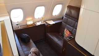 getlinkyoutube.com-Etihad A380 First Class Apartment : Abu Dhabi to London EY19