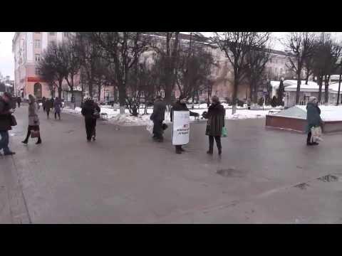 Вчера в Калуге прошёл одиночный пикет