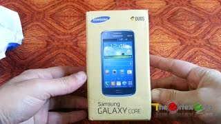 Unboxing Of Samsung Galaxy Core - GT I8262 Plus First Boot