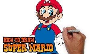 getlinkyoutube.com-How to Draw Super Mario- Simple Video Lesson