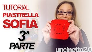 "getlinkyoutube.com-Tutorial uncinetto -  Piastrella ""Sofia""- Parte 3 di 3"