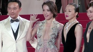 getlinkyoutube.com-Shu Qi and more attend the red carpet of Nie Yinniang in Cannes