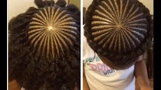 getlinkyoutube.com-Halo/Crown Braid on Kids Natural Hair