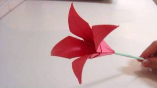 getlinkyoutube.com-Origami Flower - Lily