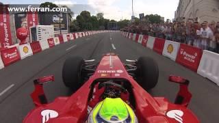 getlinkyoutube.com-F1 2013 - Ferrari - On board camera with Felipe Massa at Warsaw Street Demonstration