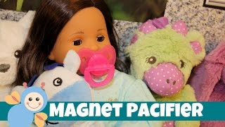 getlinkyoutube.com-Bitty Twin Pacifier | How to add a Magnet to American Girl Bitty Twin or Baby Dolls | Magnetic Dummy