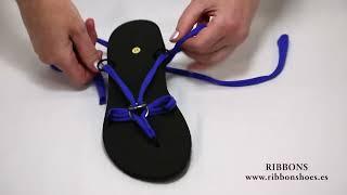 getlinkyoutube.com-Sandalias multiformas de mujer Ribbon shoes