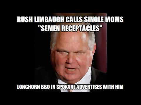 Longhorn BBQ in Spokane Supports Disgusting Sexist Rush Limbaugh with Ads
