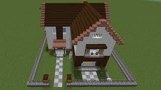 getlinkyoutube.com-【Minecraft】初心者でバニラでもオシャレな家を作りたい Part1 ゆっくり実況