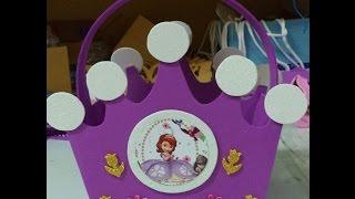 getlinkyoutube.com-Como hacer Dulcero Corona Princesa Sofia - DIY how to make a crown