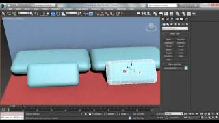 How to make a bed in 3D max