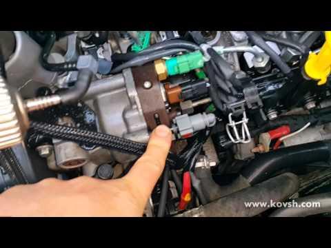 Как исключить подсос воздуха с форсунок на Renault Kangoo 1.5DCI
