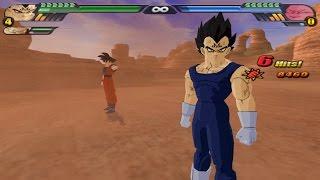 getlinkyoutube.com-Majin Vegeto : Majin Vegeta and Goku fuse with the potaras VS Majin Buu (DBZ Tenkaichi 3 Fusion Mod