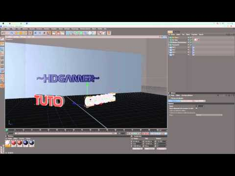 [TUTO]faire une belle intro cinema 4d  partie 2/4