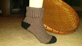 getlinkyoutube.com-Glama's HIS & HERS Loom Knit Sock