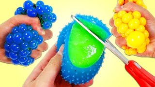 Cutting Open SLIME MESH BALLS | Fun Color Changing Stress Balls & Magic Toy Microwave Surprise Toys!