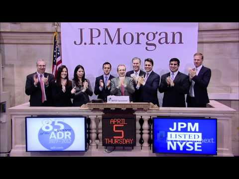 J.P. Morgan&#39;s American Depositary Receipt (ADR) rings the NYSE Closing Bell