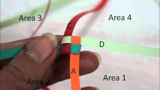 getlinkyoutube.com-Quilling Paper Boondoggling or weaving فن لف الورق