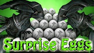getlinkyoutube.com-Minecraft | SURPRISE EGGS CHALLENGE - Alien Vs Predator Mod! (Surprise Egg Aliens)