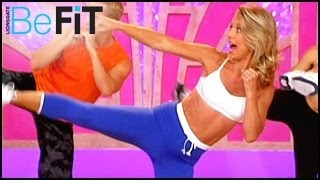 getlinkyoutube.com-Denise Austin: Kickboxing Cardio Fat Blast Workout