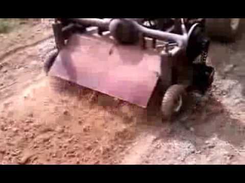 Tow behind tiller PREPPER 4 feet wide 11 hp rotary plow  homemade self powered