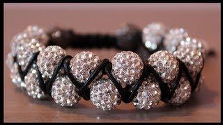 getlinkyoutube.com-DIY Double beaded shamballa bracelet