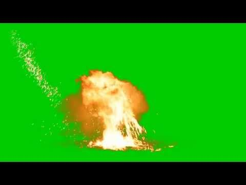 Explosion Green Screen [HD] two in one