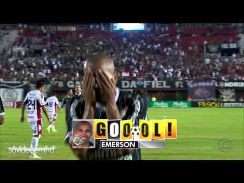 Gols - Nacional (PAR) 1 x 3 Corinthians (BRA) - Libertadores 2012 - 11/04/2012 - Globo HD