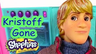 getlinkyoutube.com-Disney Frozen Kristoff Gone Shopkins Crazy Princess Anna Barbie Doll House Drama