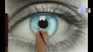 getlinkyoutube.com-How to Draw AMAZING realistic eye - Speed painting