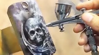 getlinkyoutube.com-airbrush on hardcase phone