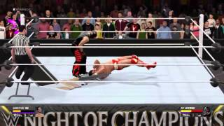 WWE2K16 Extreme Table breaks and Bumps