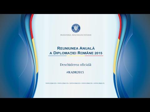 Deschiderea oficială a Reuniunii Anuale a Diplomației Române, ediţia 2015 - transmisiune live