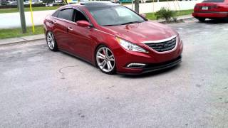 YF Sonata on d2racing coilovers