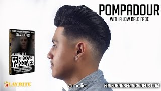 getlinkyoutube.com-HOW TO: Pompadour w/ Drop Bald Fade - Styled w/ Layrite - cut by Geo Cuts