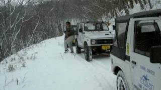 getlinkyoutube.com-JCJ茨城 スノーアタック 福島県鎌房林道 '09.02.08.