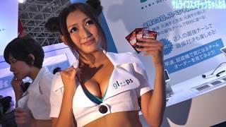 getlinkyoutube.com-ホットパンツ コンパニオン 「gloops」キャンギャル 東京ゲームショウ Tokyo Game Show gloops Sexy Japanese Girl サムライコスメチック
