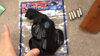 getlinkyoutube.com-Desantis Speed Scabbard Holster Ruger LCR 357 Mag.