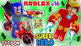 ROBLOX SUPER RICH HEROES $$$$ Iron Man Duddy vs Batman Chase SUPERHERO TYCOON (FGTEEV #16 Gameplay)