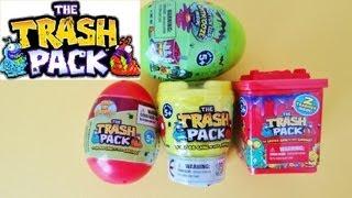 getlinkyoutube.com-Trash Pack Special - 2 Surprise Eggs, 1 Bin and 1 Toilet Unboxing