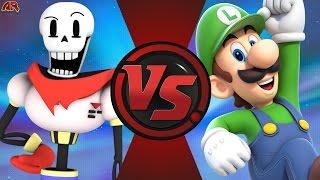 getlinkyoutube.com-PAPYRUS vs LUIGI! (Undertale vs Nintendo) Cartoon Fight Club Bonus Episode 3