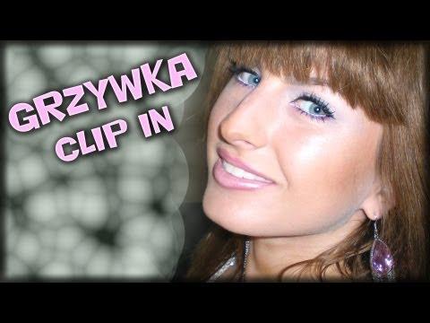 Grzywka clip in /  dopinana