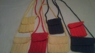 getlinkyoutube.com-#crochet - cell phone case/mini purse, I-pod case