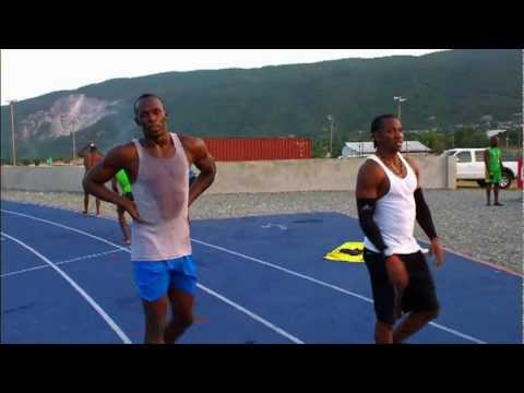 Usain Bolt - Glen Mills Training Session