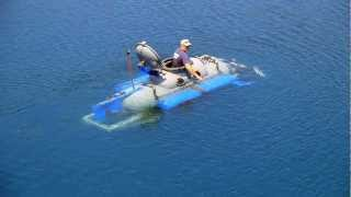 getlinkyoutube.com-Propane Tank Submarine - Rock Quarry